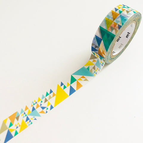 Blue triangle washi tape by MT