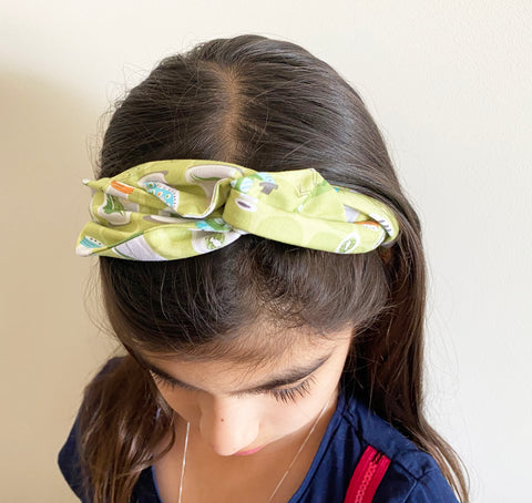 Bug Jars patterned Head Band | Fabric Wire Headband