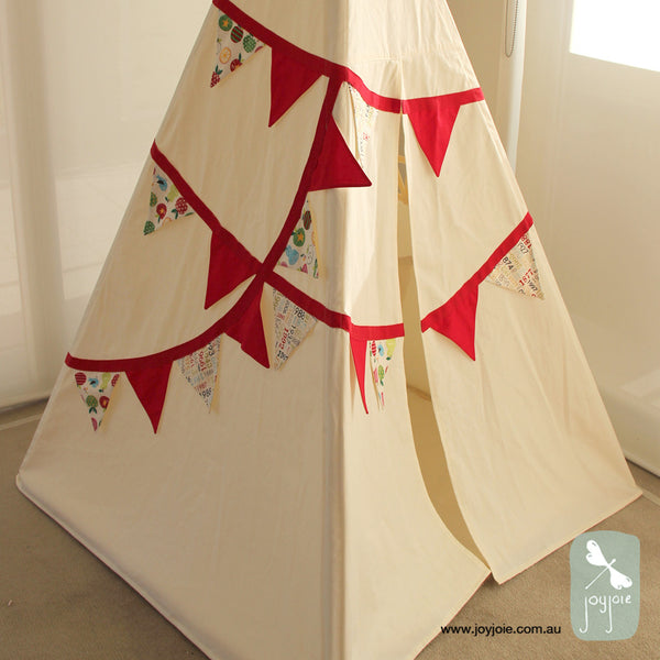 Bunting Teepee with Red trim
