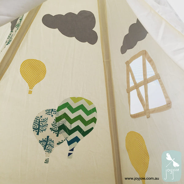 Hot Air Balloon Teepee – Chevron print feature - joyjoie