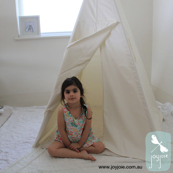 Whimsical cream teepee in regular size