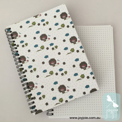 Echidna in the Garden Spiral Notebook - joyjoie