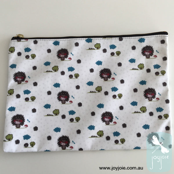 Echidna in the garden Zipper Pouch - joyjoie