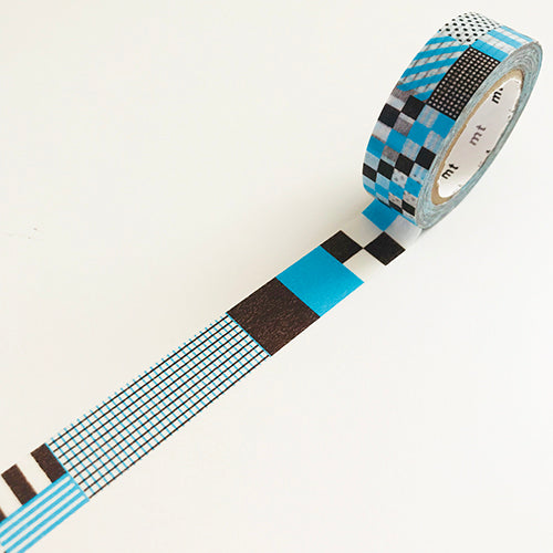 Geometric Blue Deco Washi Tape