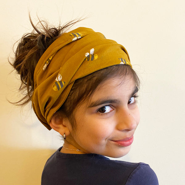 Bumble print Head Wrap | Fabric Wire Headwrap | hairband