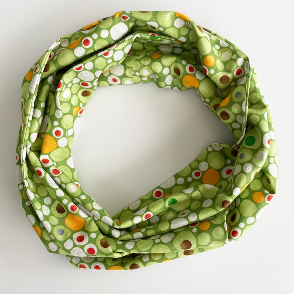 Green Bubble Head Wrap | Fabric Wire Headwrap