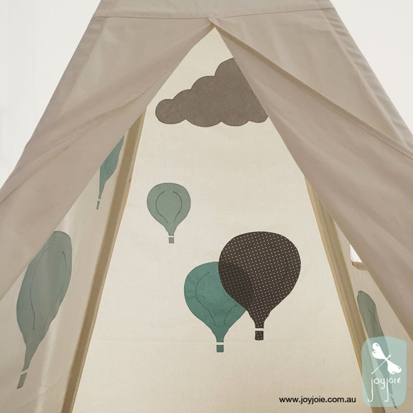 Hot Air Balloon Teepee in Blue - joyjoie
