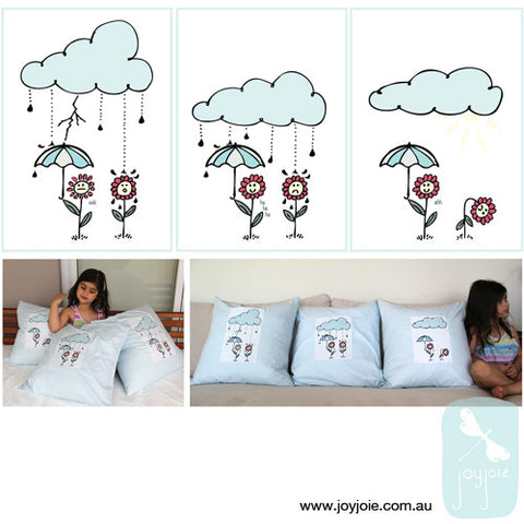 Cloudy Day Cushion Cover Set (ex. inserts) - joyjoie