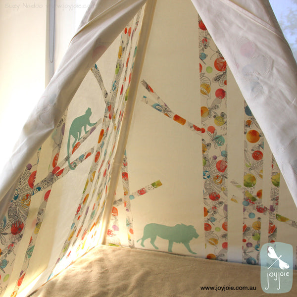 Personalised Secret Hideaway Teepee – butterflies - joyjoie