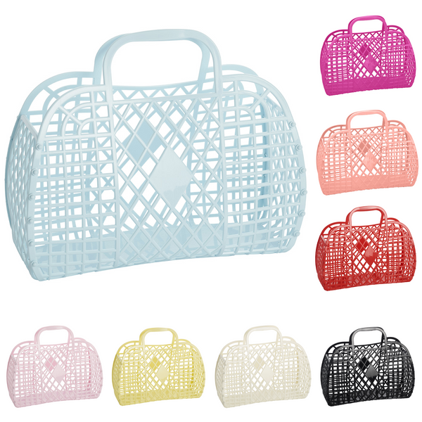 Large Retro Basket, colour options