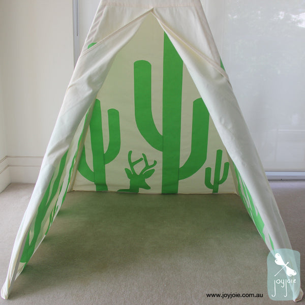 Secret Desert Teepee in Lime - joyjoie