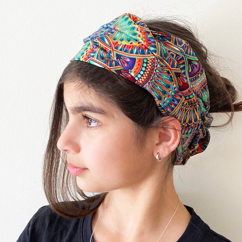 Lumina print Head Wrap | Fabric Wire Headwrap