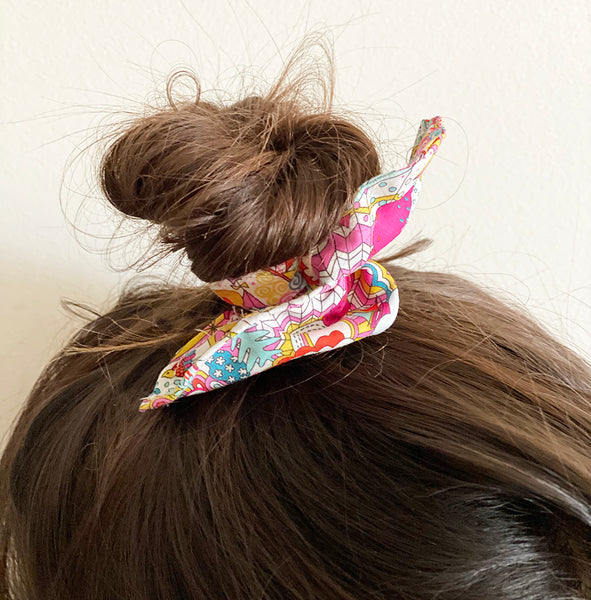 Pink patterned Hair-tie | Wire Hair-tie