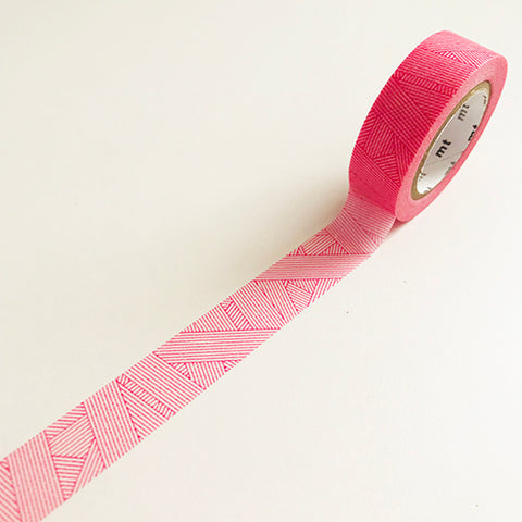 Magenta striped washi tape