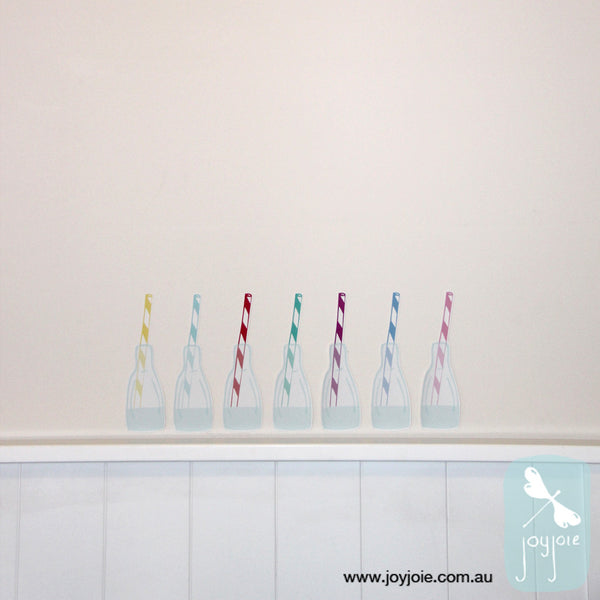 Milk Bottle Removable Decal - joyjoie