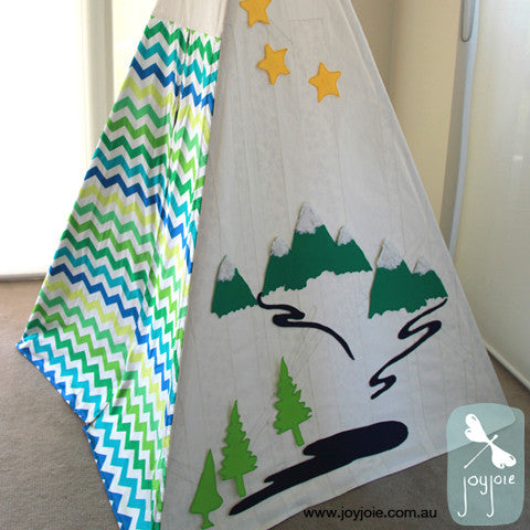 Secret Woodland with exterior wall art – Custom tepee - joyjoie
