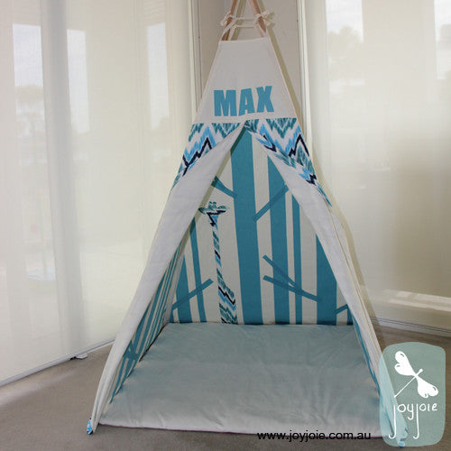 Secret Forest Teepee (Teal and Flamestitch) - joyjoie