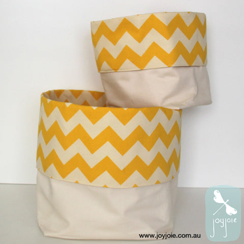 Yellow and cream nesting Storage Sacks - joyjoie