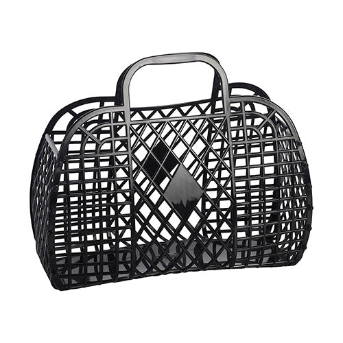 Large Black Retro Basket from Sun Jellies
