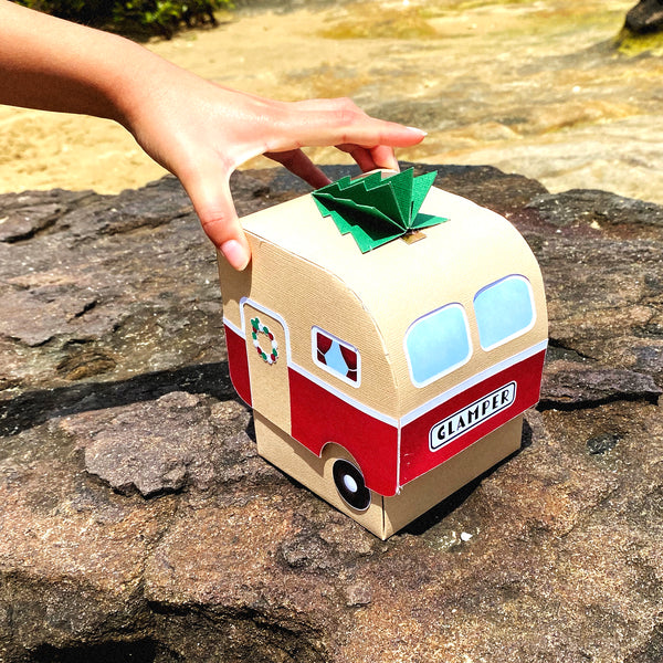 Retro Glamper Camper Christmas Surprise Box | Custom Made Van Warming Gift