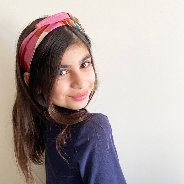 Retro print Head Band | Fabric Wire Headband