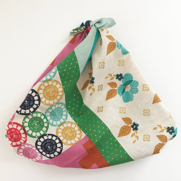 Furoshiki tied as a shopping bag