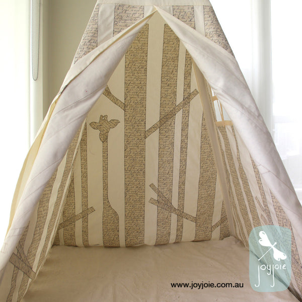 Secret Forest Teepee - Etchings Text - joyjoie