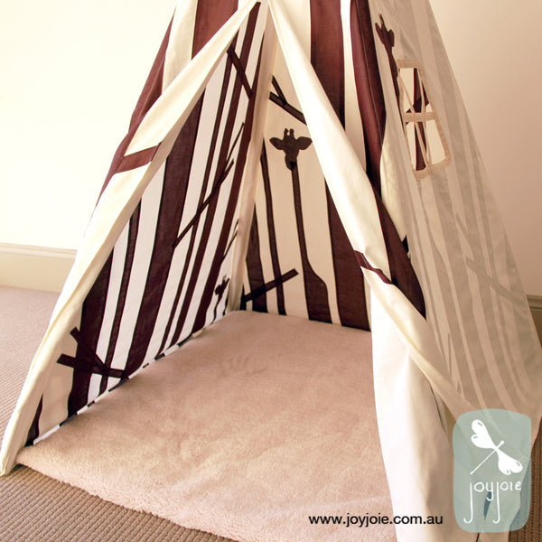 Secret Forest Teepee in Brown (ex. poles) - joyjoie