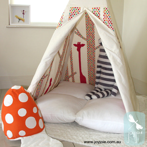 Secret Forest/Greenwood teepee in hedgehog print - joyjoie