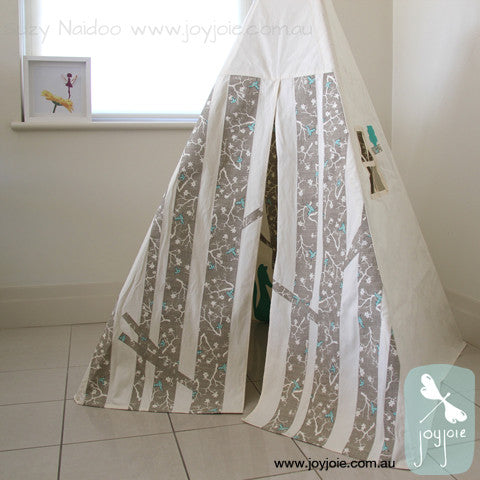 Hummingbirds fabric Secret Woodland Tee pee - joyjoie