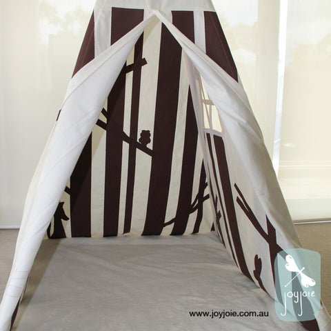 Secret Woodland Teepee in Brown (ex. poles) - joyjoie