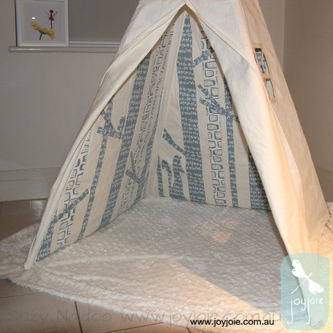 Glimma in Fog Fabrics Secret Woodland Teepee – Custom order - joyjoie