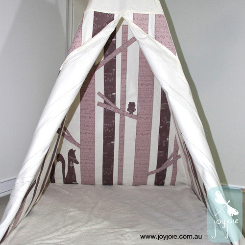 Secret Woodland Teepee – Custom order in Mushroom Pink - joyjoie