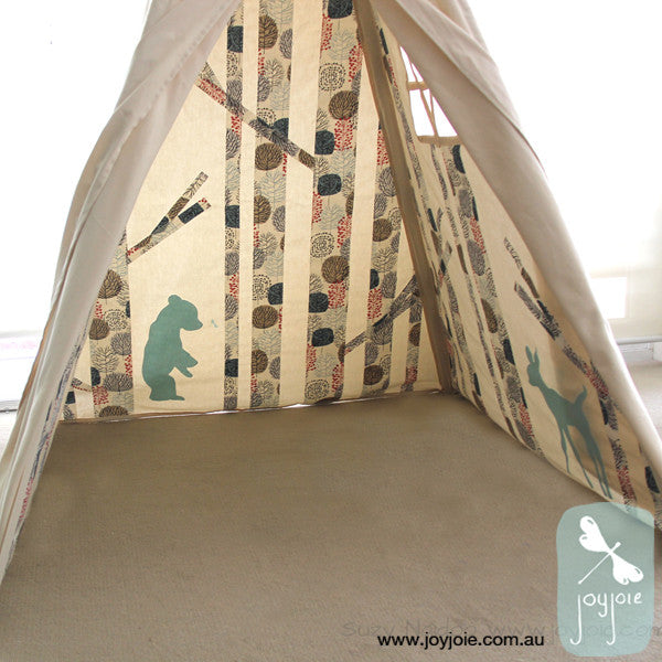 Secret Greenwood Teepee – Tree print - joyjoie