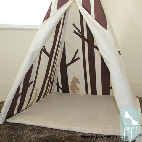 Secret Greenwood Teepee in brown and check - joyjoie