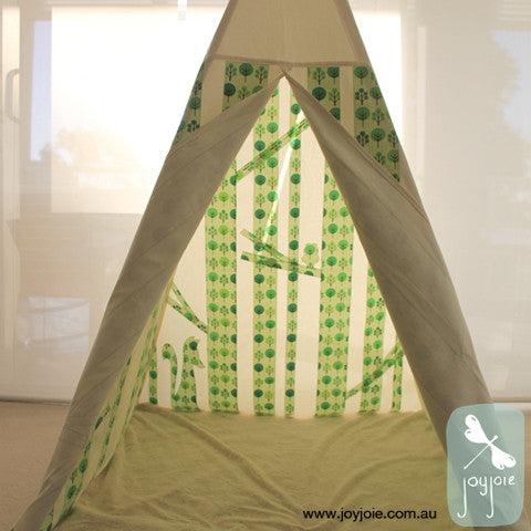 Secret Woodland Teepee – Custom order in Lime Green - joyjoie