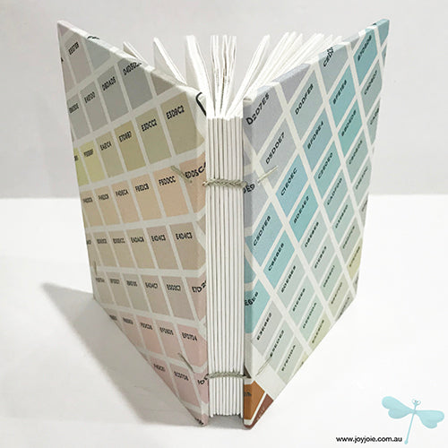 Pastel sateen coptic bound sketchbook