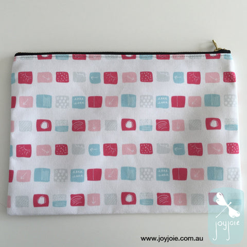Pastel coloured sketch pattern Zipper Pouch - joyjoie