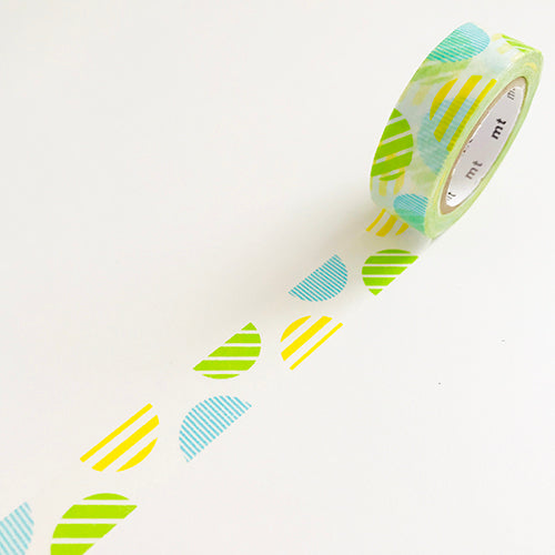 Green and line Arch Washi Tape