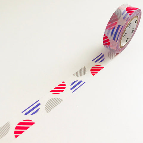 striped circles in pink MT washi tape