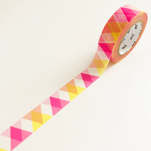 Yellow and pink geometric washi tape