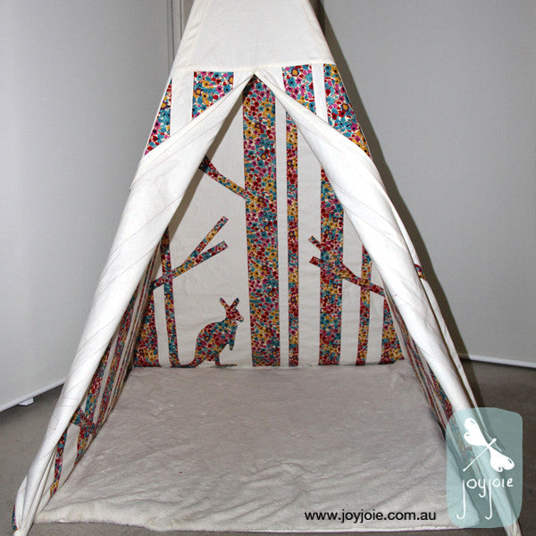 Secret Ranges Teepee in Watercolour Meadow – Custom Order - joyjoie