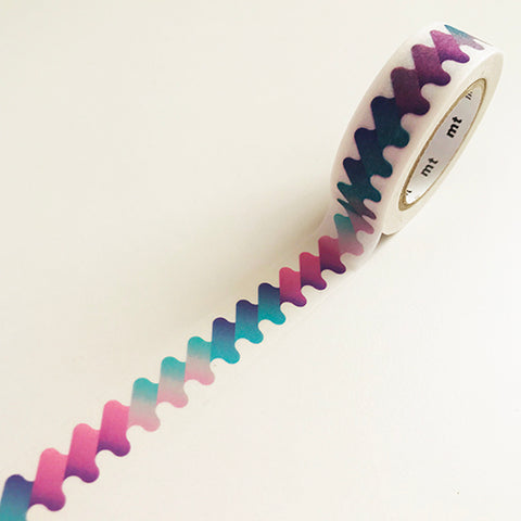 Blue-purple waving pattern washi tape
