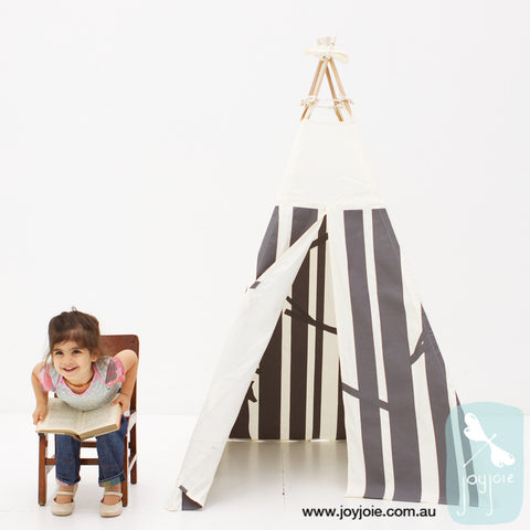 Secret Woodland Teepee in Graphite (ex. poles) - joyjoie