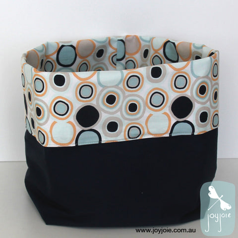 Cool tones spot print Storage Sack with navy blue contrast - joyjoie