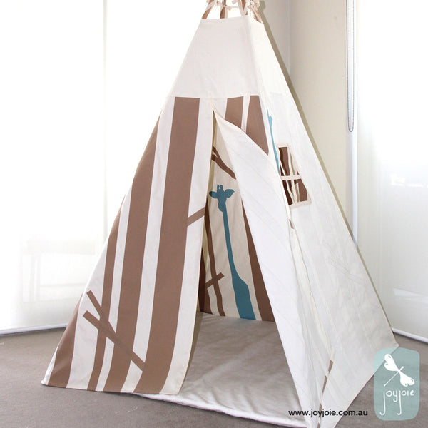 Secret Forest Teepee in Late & Duck Egg Blue - joyjoie