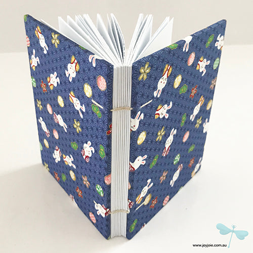 Bunny print coptic bound notebook