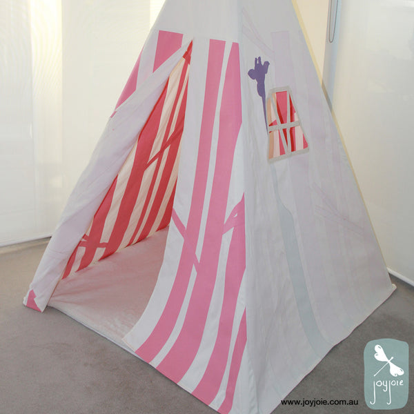 Secret Forest Teepee – Custom order in Pink & Purple - joyjoie