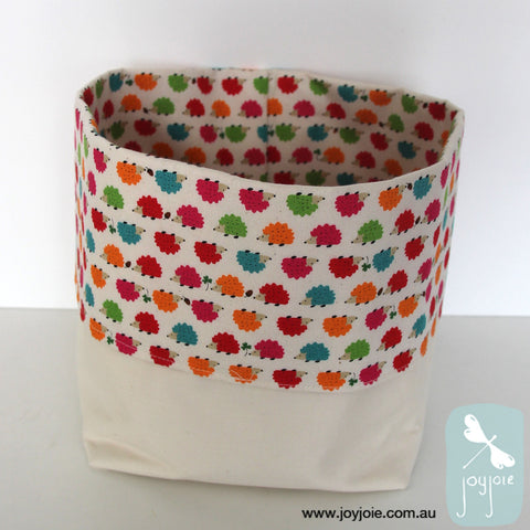 storage sack with hedgehog print feature fabric