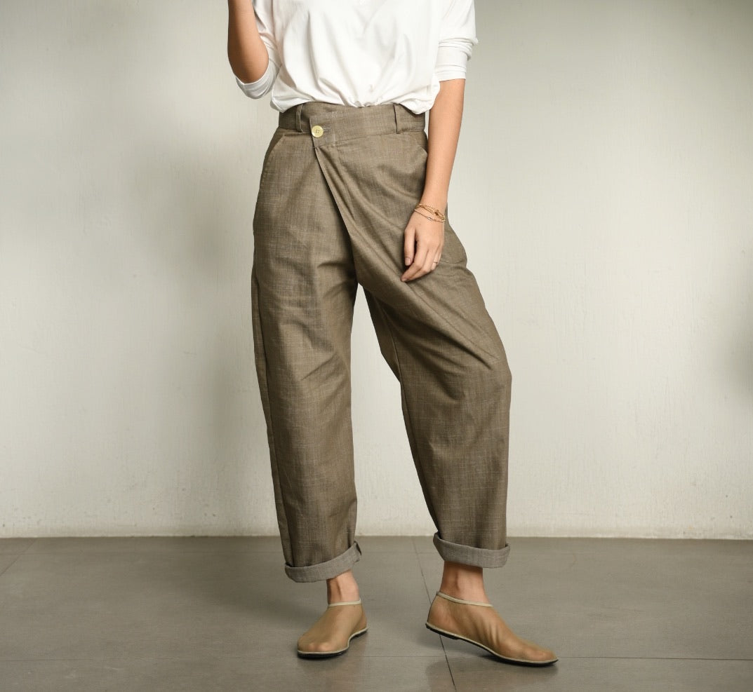 Holi Overlap Pants in Denim Mocha